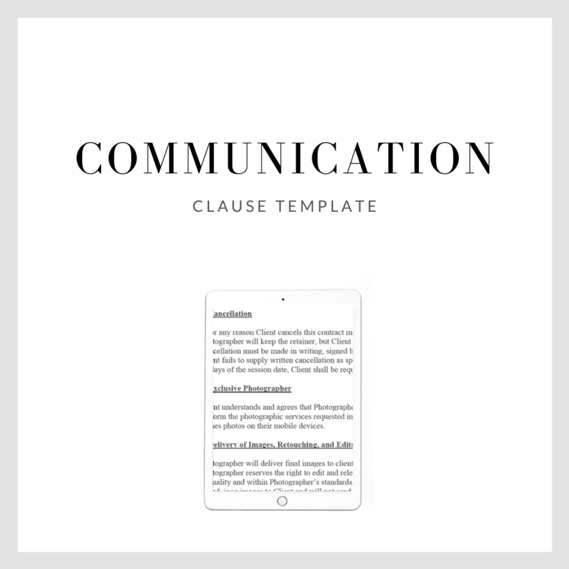 Communication Clause