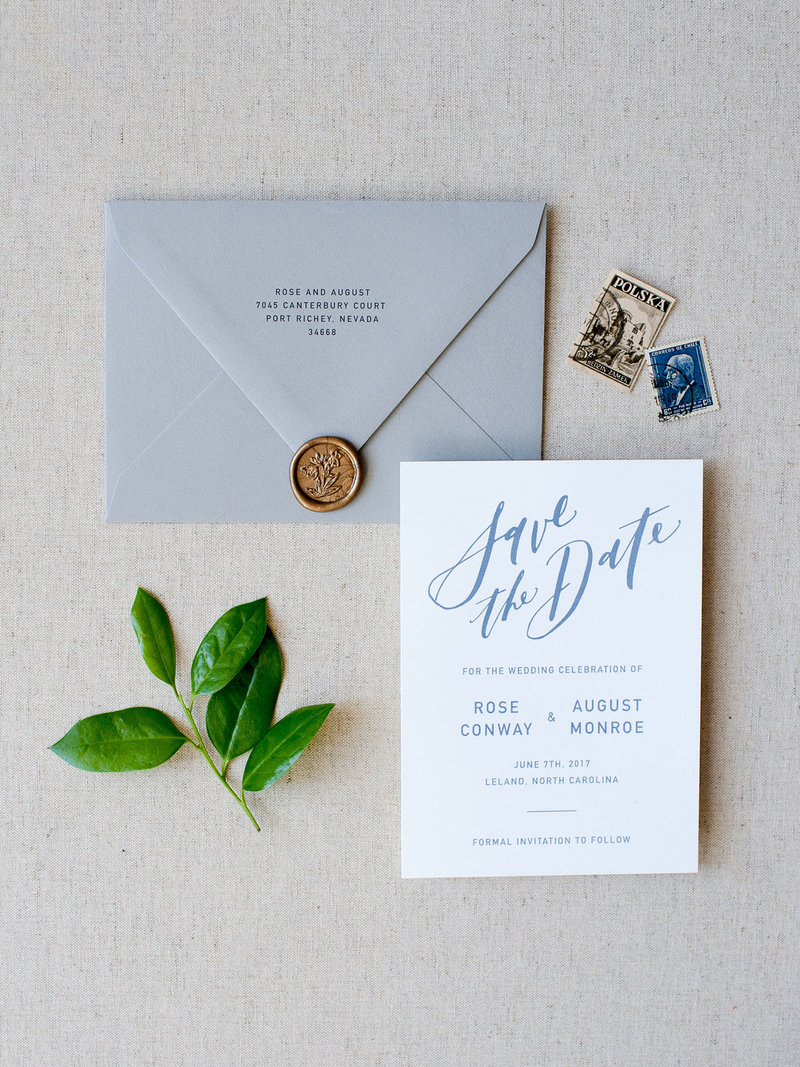 Semi-Custom Invitations - Modern Affair Collection Save the Dates