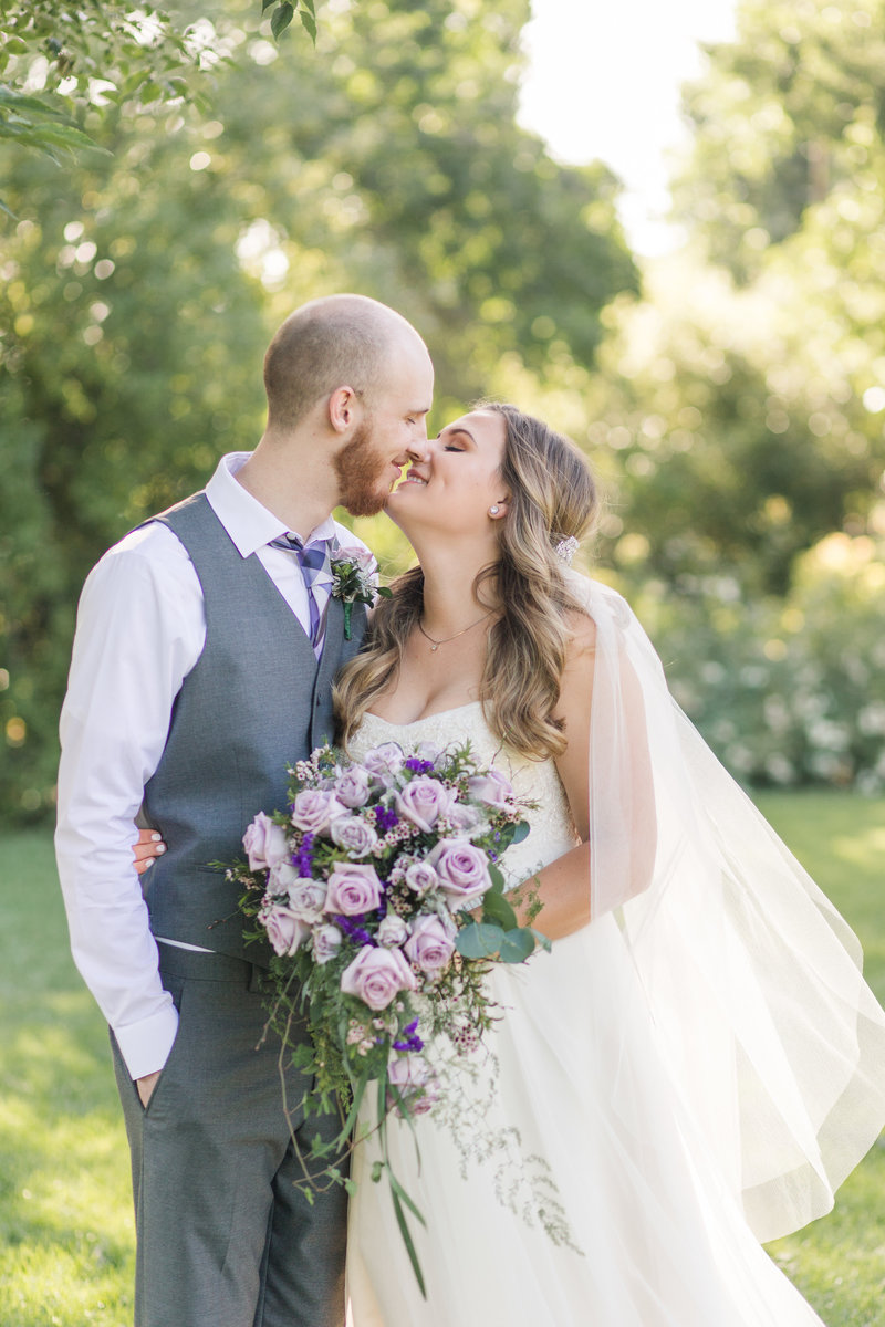 Purple and Gray DIY Backyard Wedding in Northern California by Adrienne and Dani Photography
