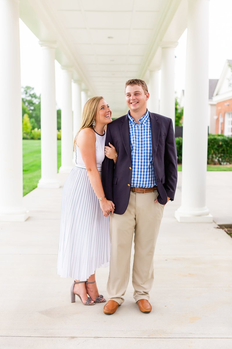 Engagement session in Greenville South Carolina