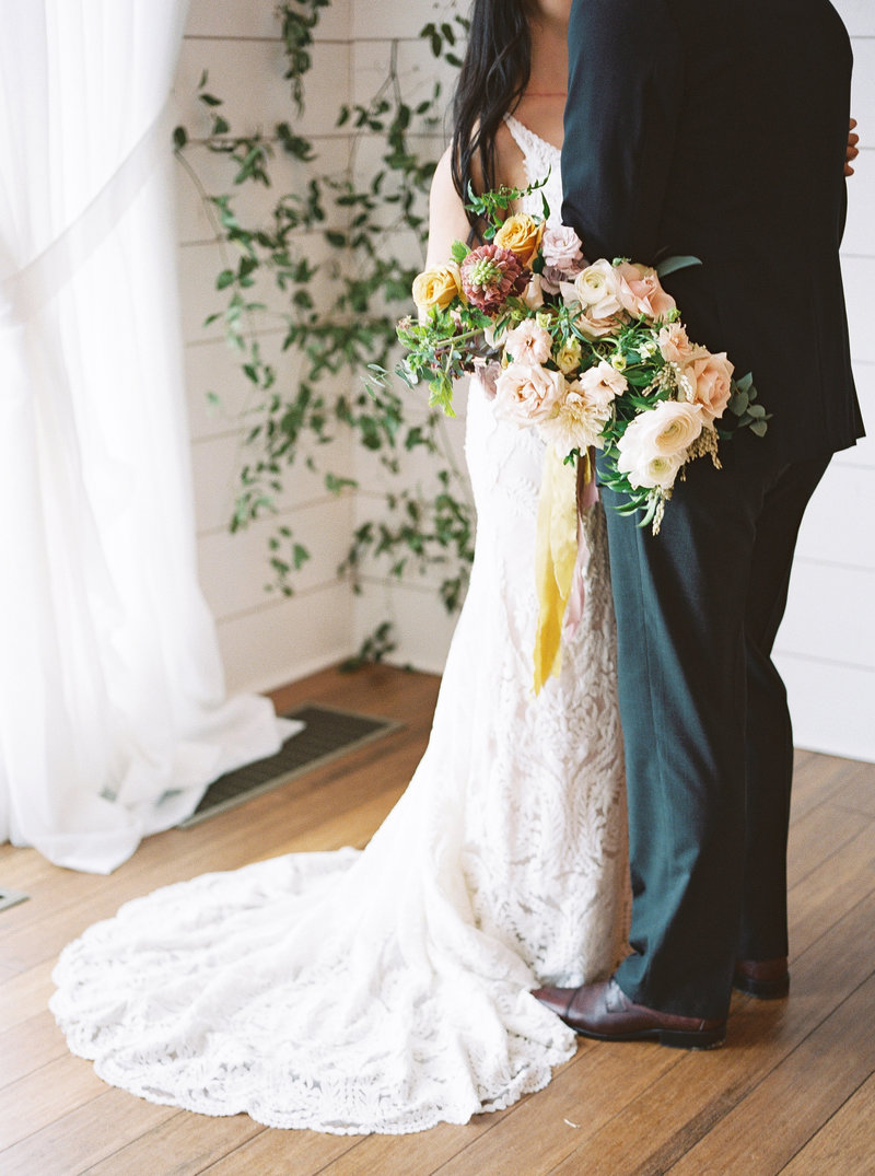 Garden bridal bouquet midwest wedding