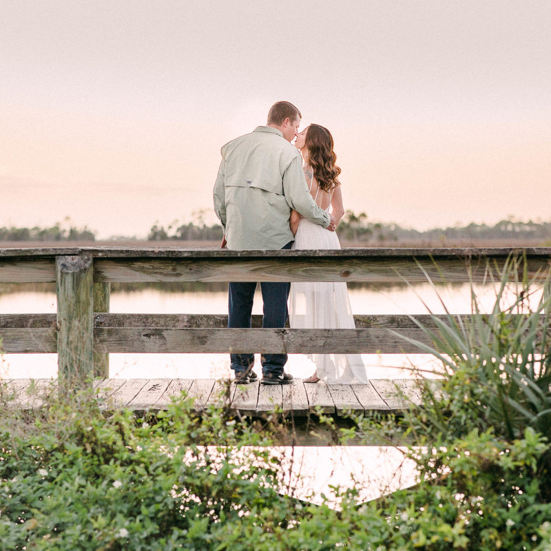 Fishing Pier Engagement Session
