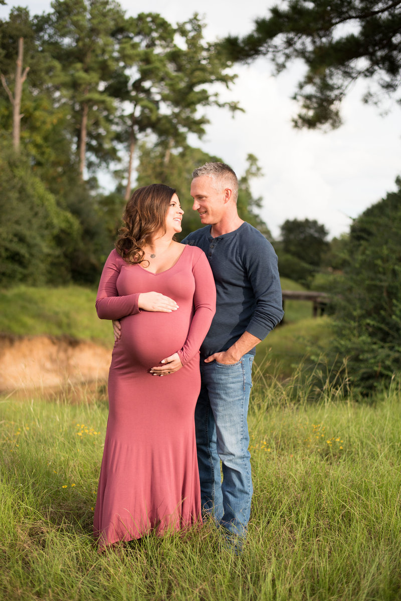 Blush Maternity Session in Spring, TX