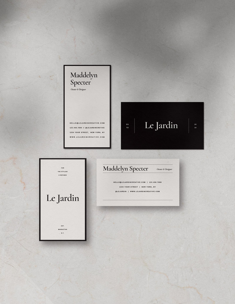 Customizable-Stylish-BusinessCard-Design-Jardin-SaffronAvenue2