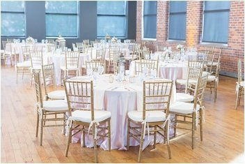 wedding reception set up at Huguenot Loft