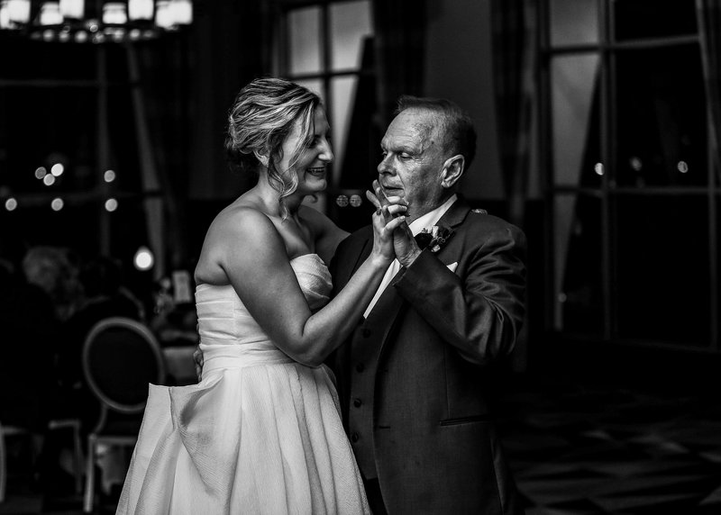 Bride dancing with her father at Sheraton Erie Bayfront Hotel wedding
