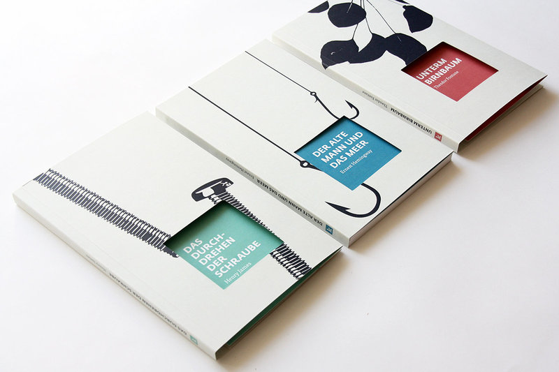 Detail of Cover Design and Typography for the Book Series of a Publishing House
