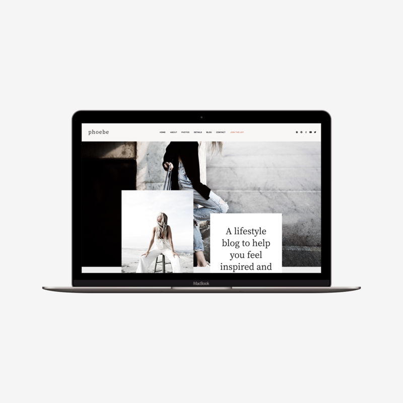 The Roar Showit Web design Template Phoebe Macbook