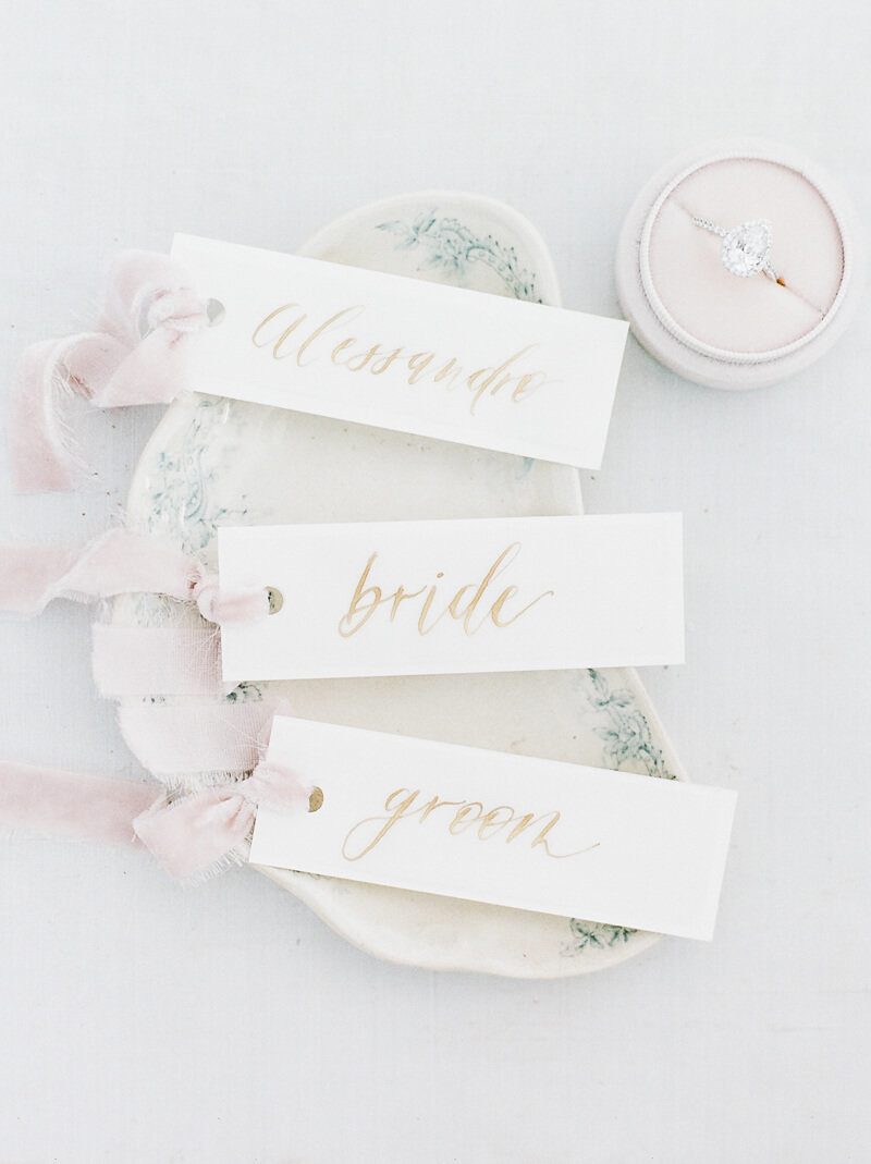 Plume & Fete wedding place cards