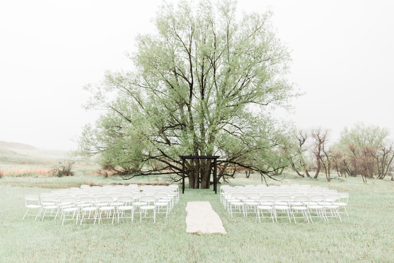 colorado wedding ceremony set up