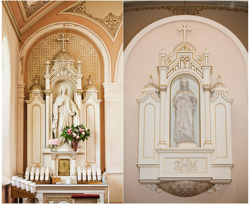 Interior photos of Sacred Heart of Mary in Boulder Colorado