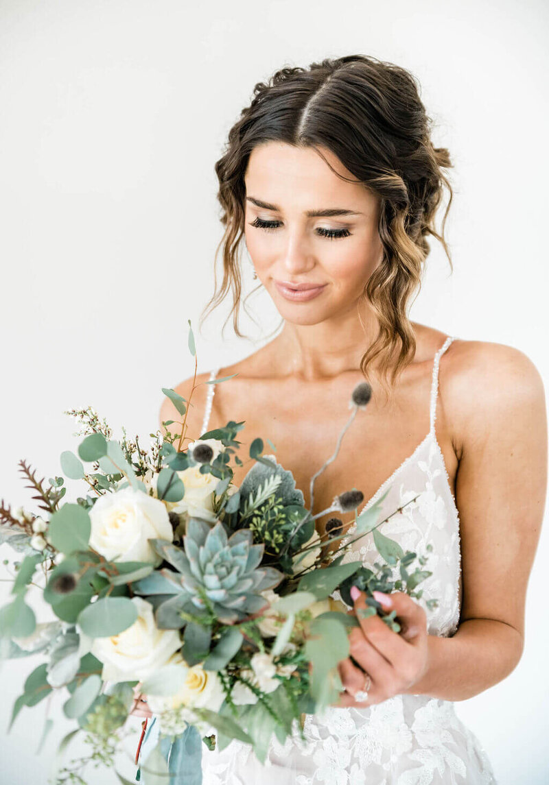 Blue, teal and gray winter wedding at Davis And Grey Farms