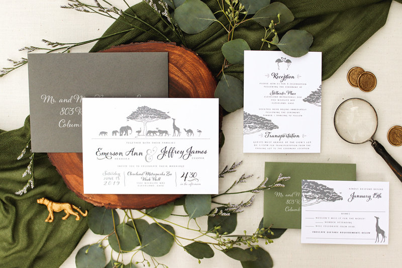 Brittney Nichole Designs Zoo Safari Wedding Invitation