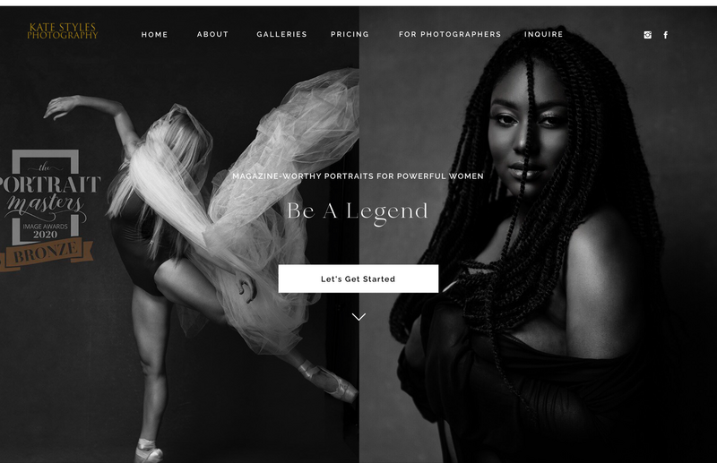 Photographer Website Design Showit Tianna Yentzer