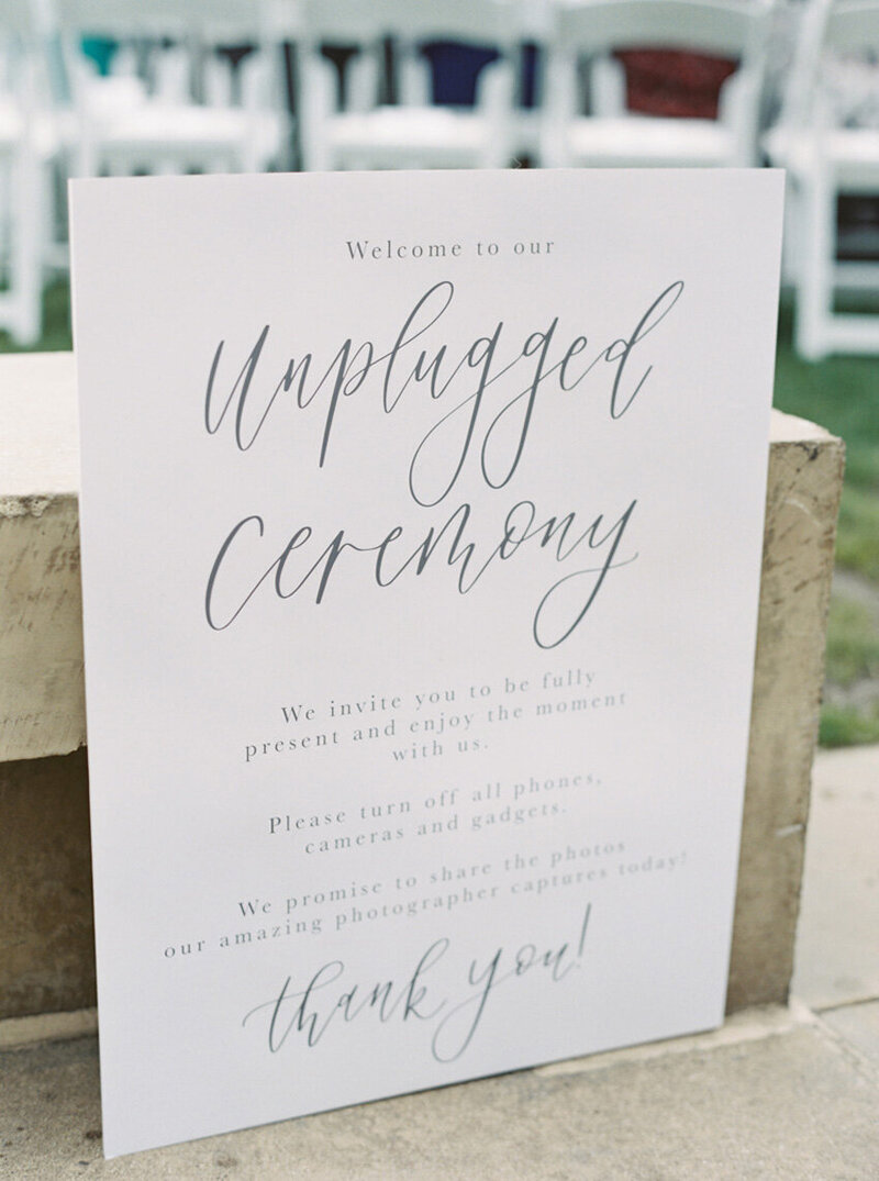 pirouettepaper.com | Wedding Stationery, Signage and Invitations | Pirouette Paper Company | Welcome + Unplugged Signs 25