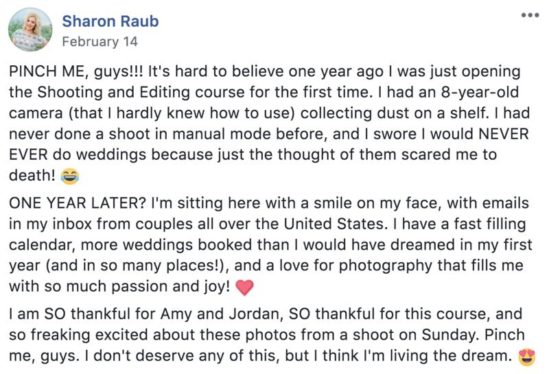 Shooting & Editing Course Facebook Testimonials