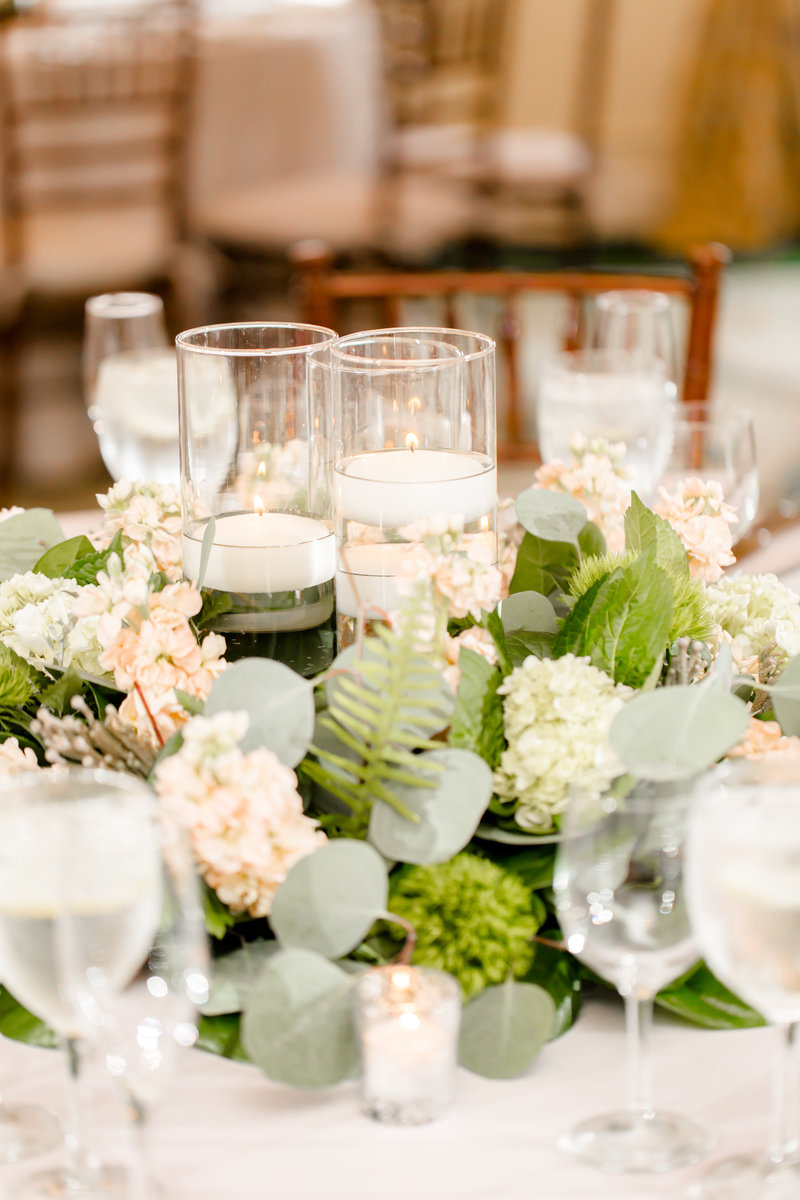 Wedding center pieces with flowers