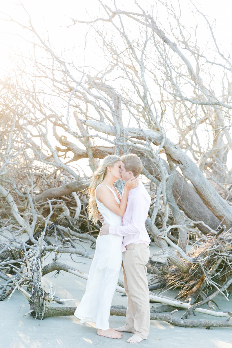 folly beach charleston sc engagement session