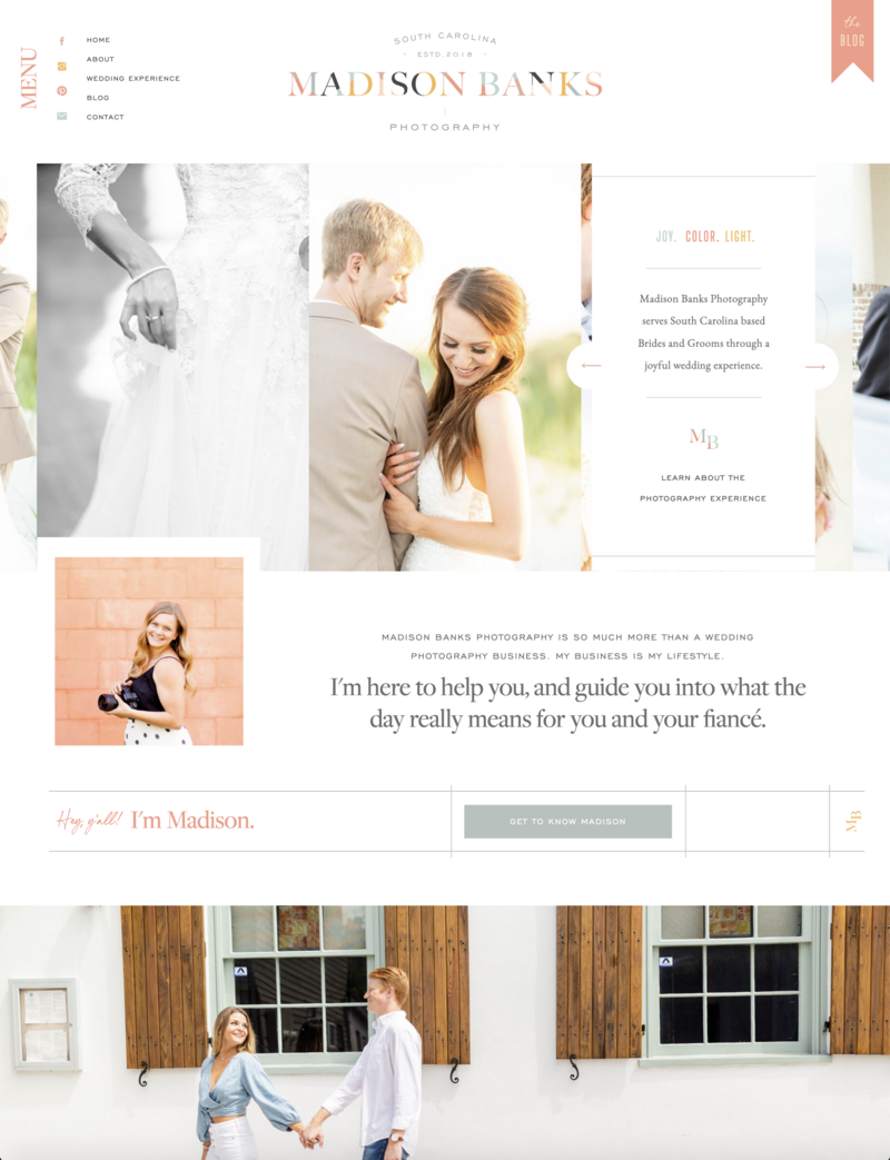 Madison Banks Photography - Custom Brand and Showit Website Design by With Grace and Gold