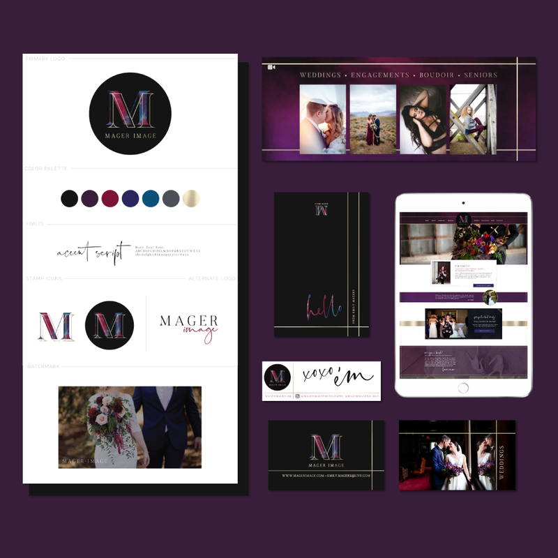 Brand and Showit Website Design for Mager Image