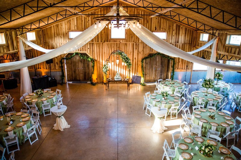 The Barn wedding venue in case of rain or cold weather, and makes for a terrific reception hall!