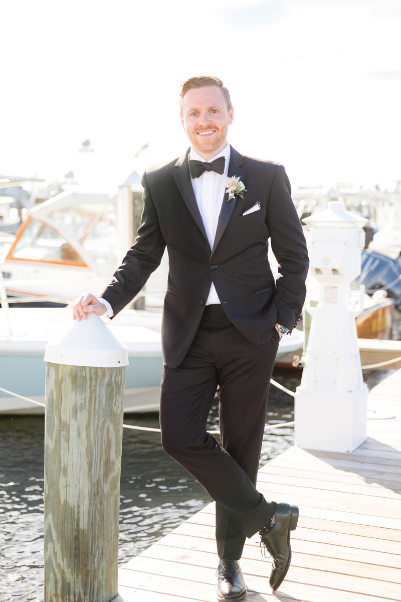 Groom portrait at Bay Head Yacht Club