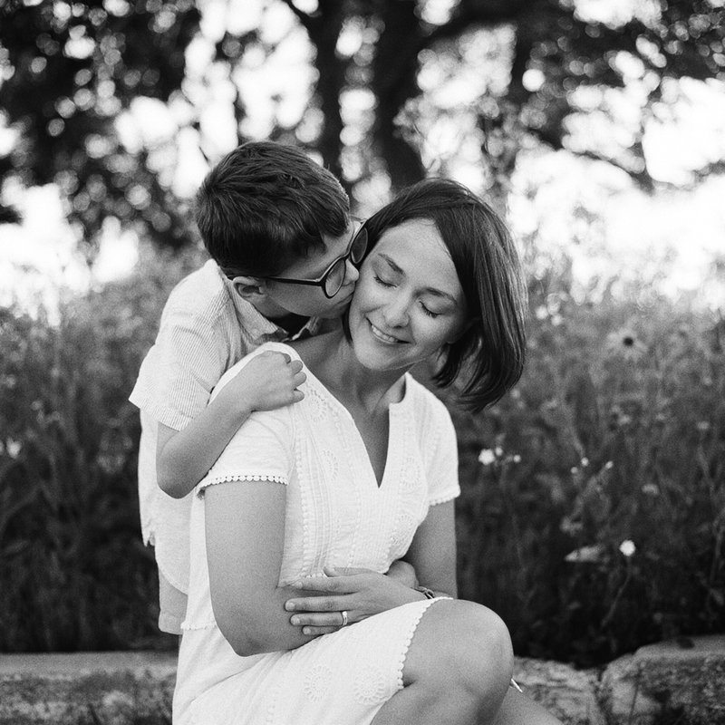 Black and White Film Family Photography by Tiffany Farley, located in Connecticut and NYC