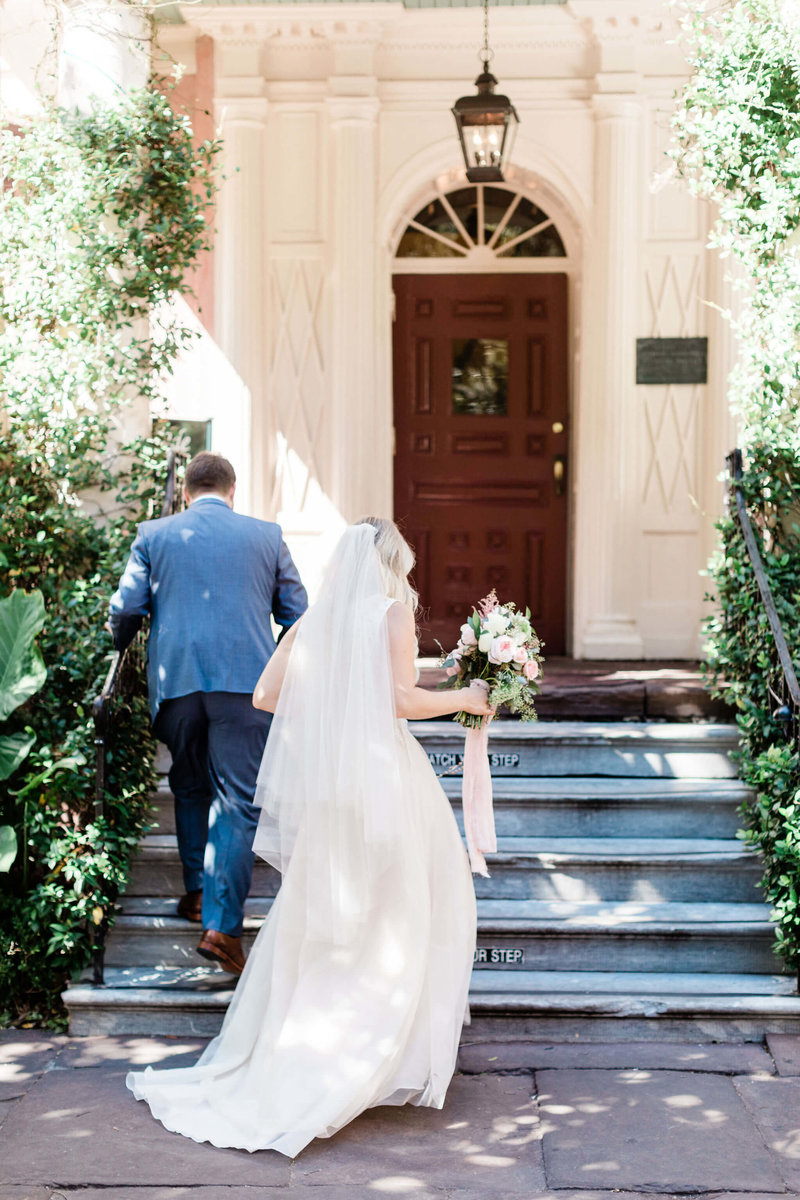 Intimate elopement at The Olde Pink House by Apt. B Photography