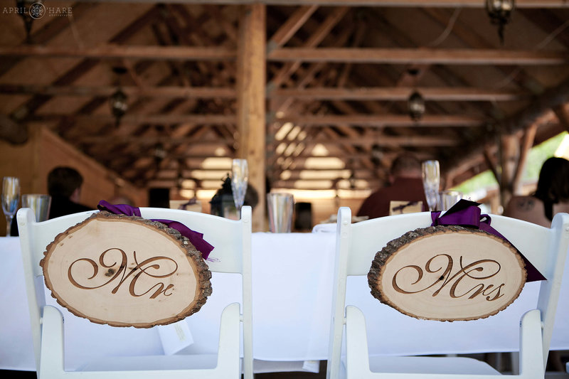 Rustic Wood Decor at Piney River Ranch Wedding Reception