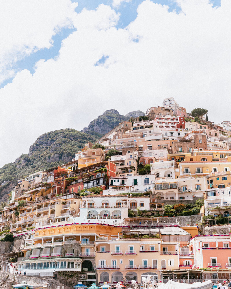 view of colorful buildings on mountain side