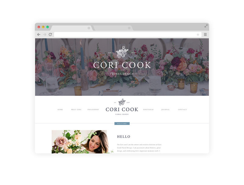 Cori Cook Website Mockup