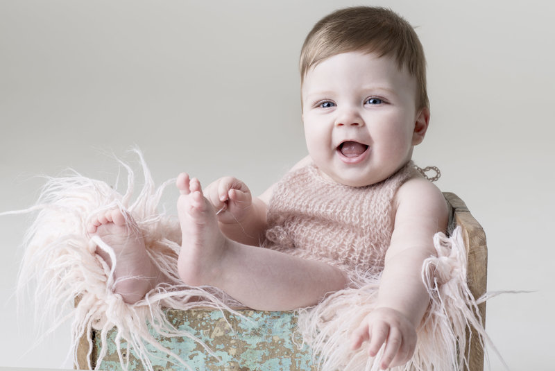 Baby professional portrait photography  studio  in Bend OR
