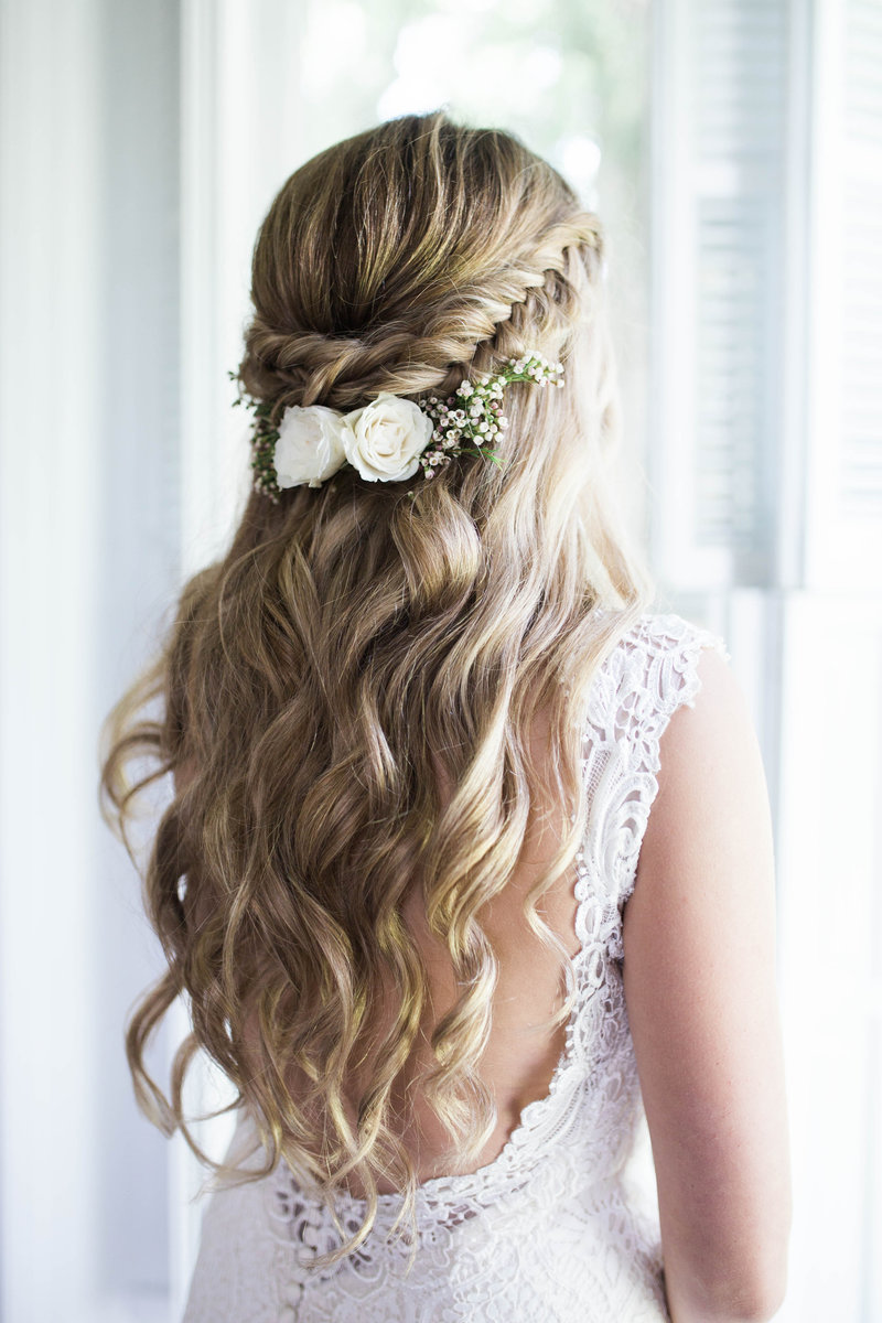 Wedding Hair Half Up Half Down Braid