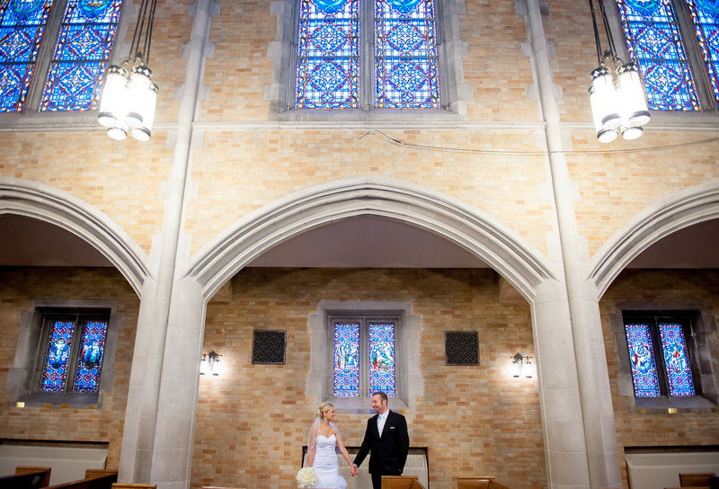 First Presbyterian Fargo wedding churches Kris Kandel Photographer (4)