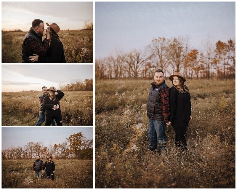 Dowtown Findlay Engagement photos. sunset parking gurage_0232