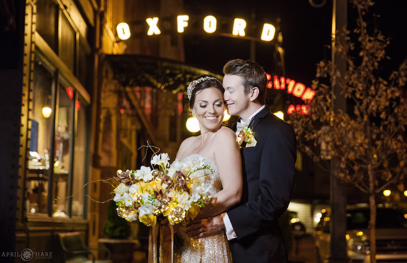 Night Wedding at The Oxford Hotel Denver CO