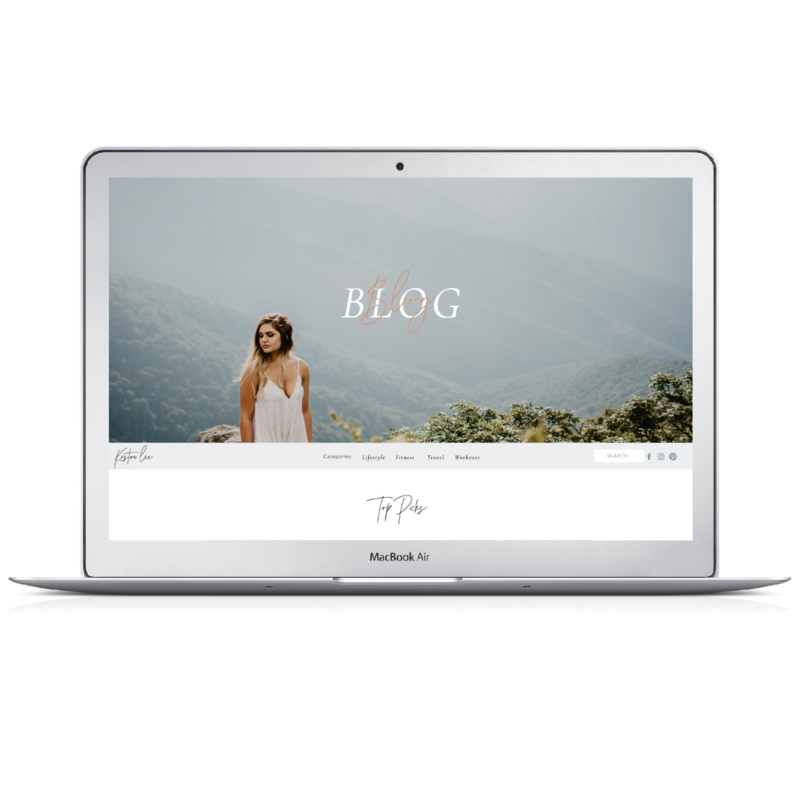 Showit Blog Template by Becca Luna