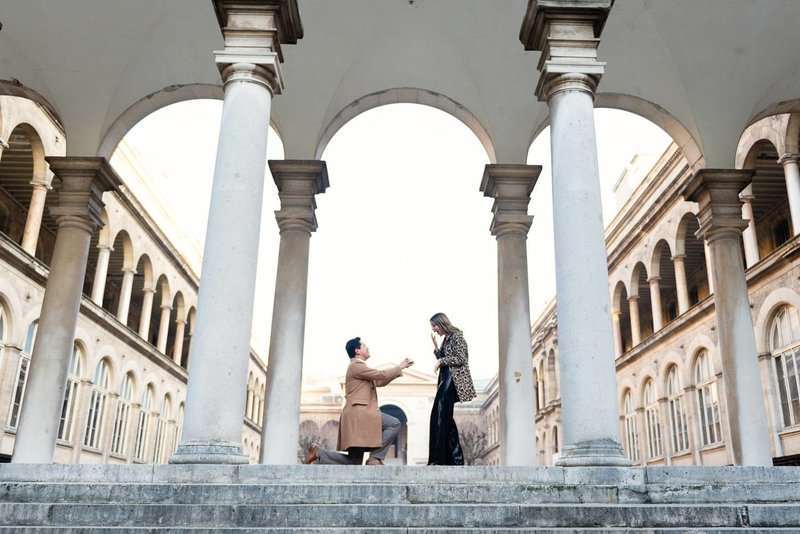 Renato hired Paris photographer Shantha to capture his proposal to Yessica .