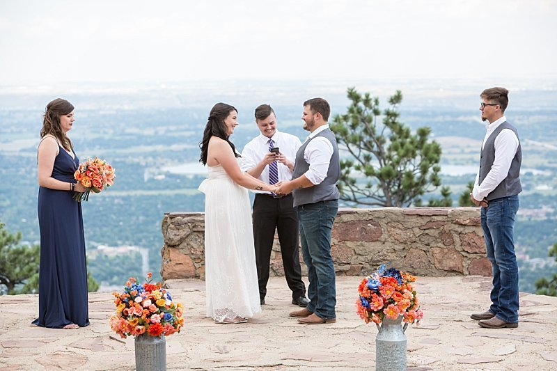Elopement at Sunrise Amphitheater in Boulder, CO