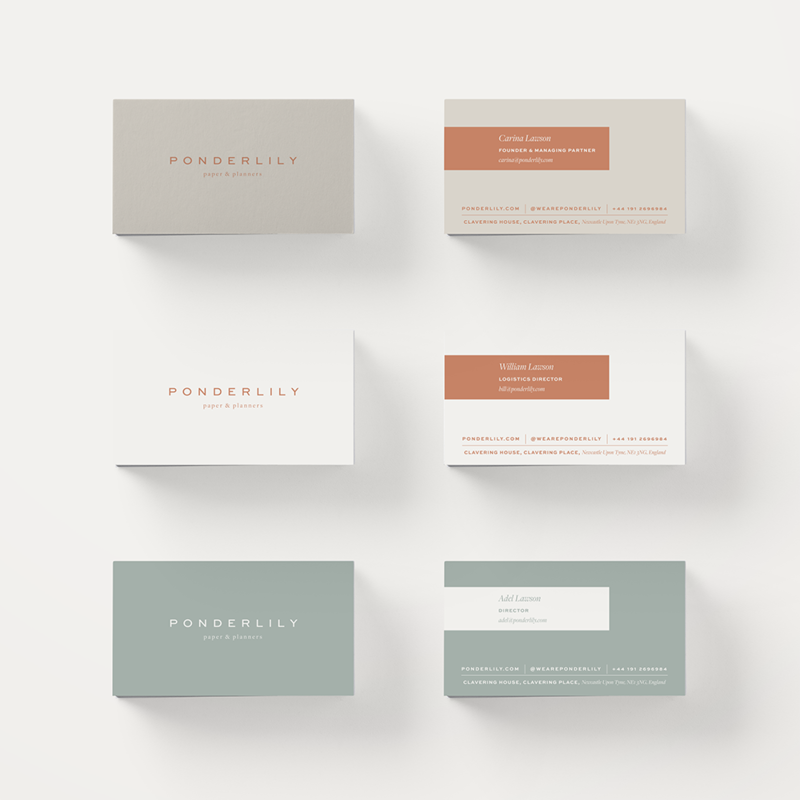 Ponderlily Business Cards