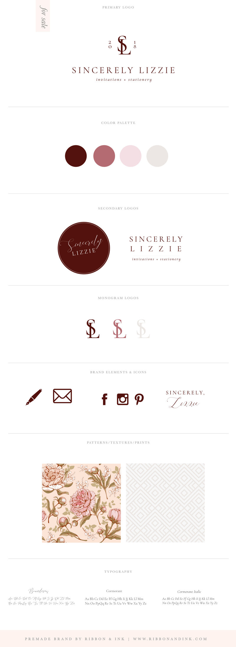 premade-branding-for-creatives-wedding-businesses-woman-business-wedding-photographer-brand-identity-for-sale-semi-custom-brand-kit-Lizzie_BrandBoard_v01_Tall