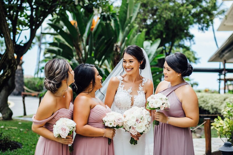 maui bride with gorgeous florals