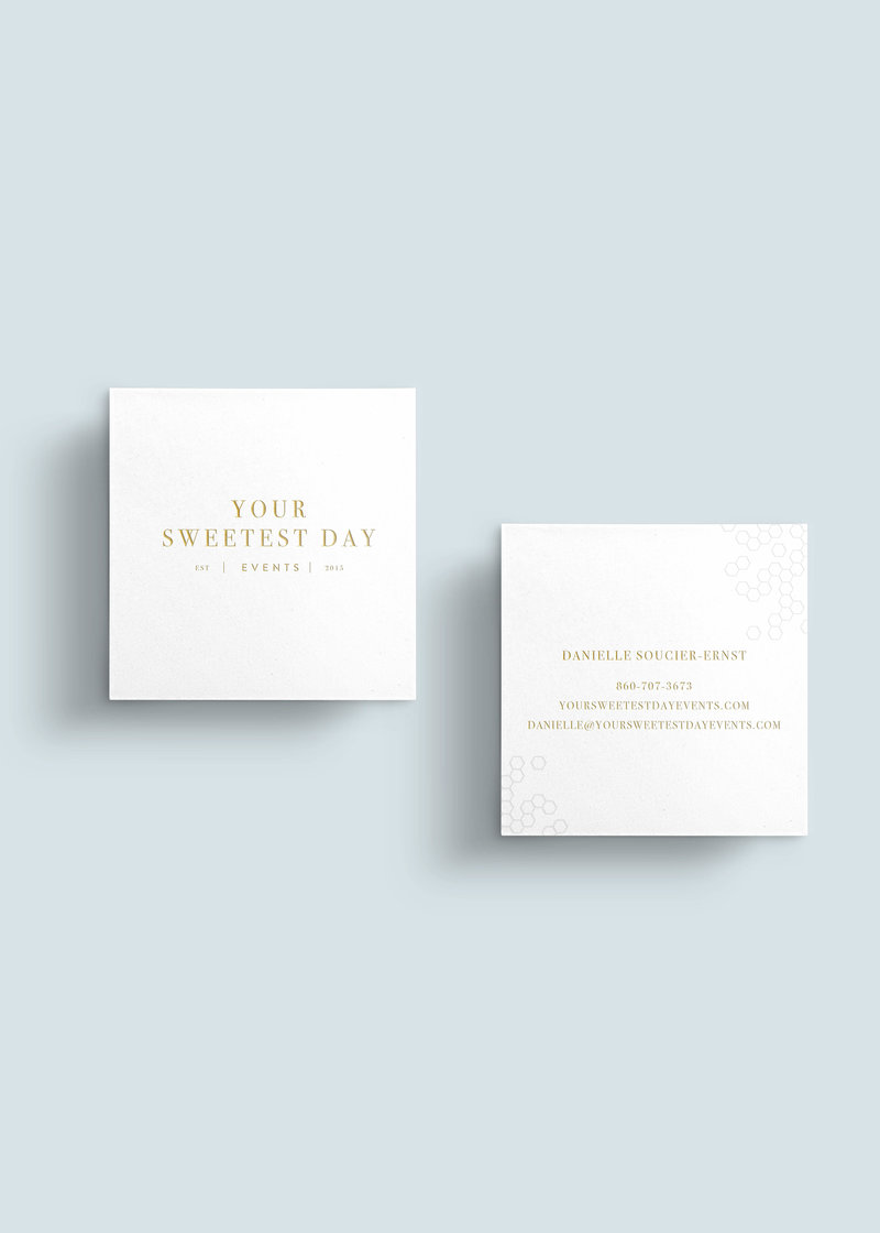 Your Sweetest Day Events Business Card - Danielle's Mockup