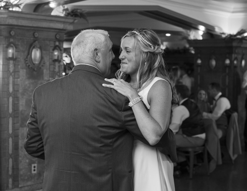 Bride dances with her father at Masonic Temple wedding reception