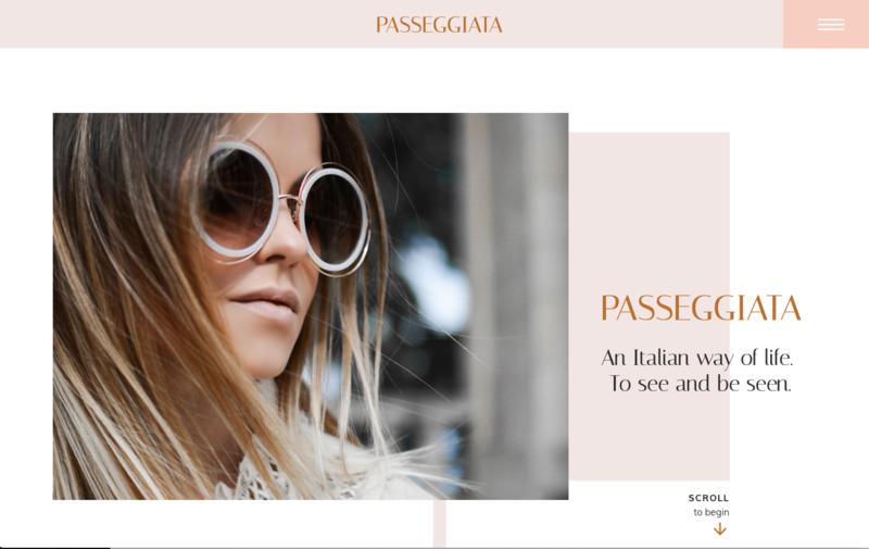 Passeggiata Showit Website Template