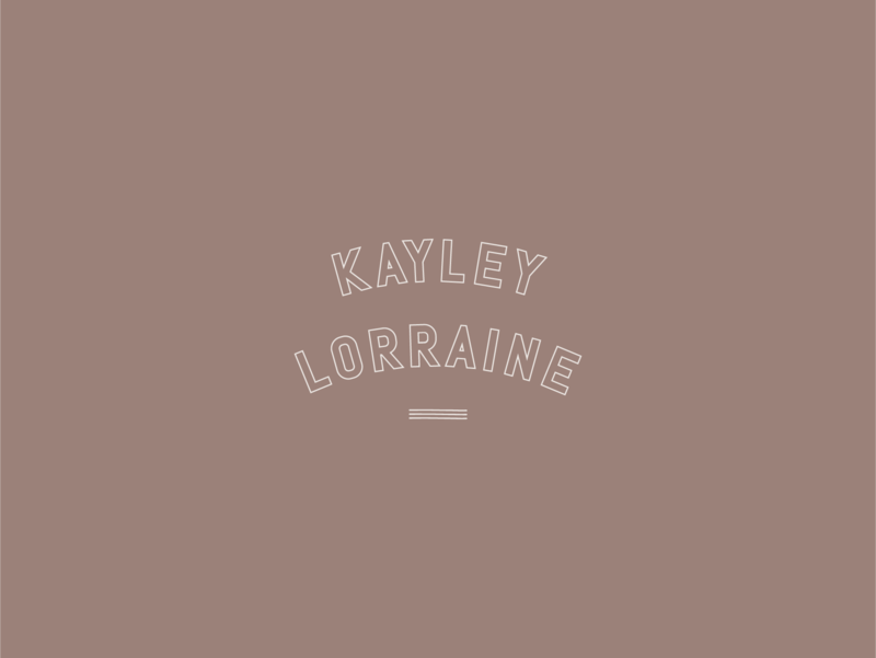 Kayley Lorraine Secondary Logo, by Rhema Design Co.