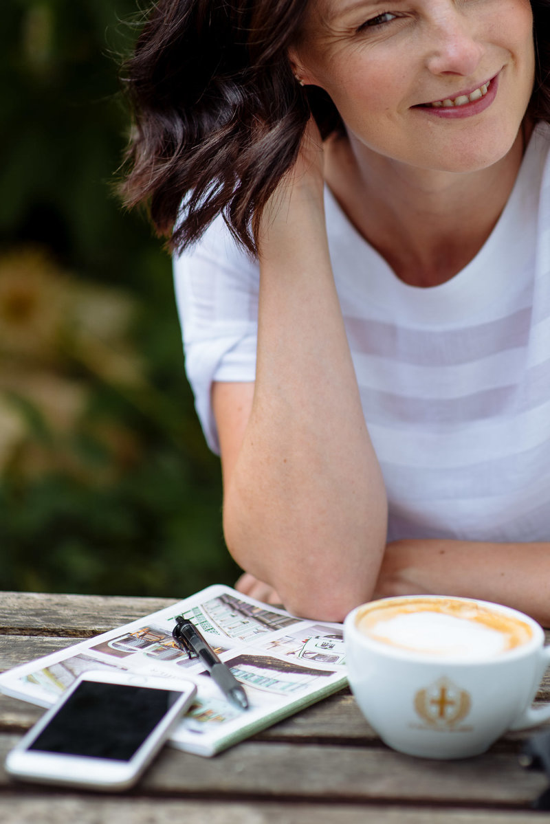 Girl with coffee. Personal brand photographer, Leeds Yorkshire