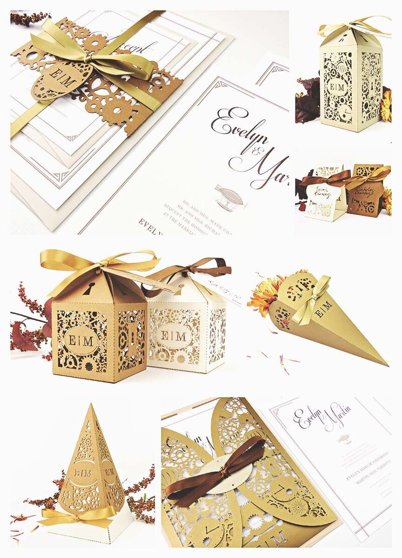 Steampunk wedding inspiration with a gold and copper colour scheme - Steampunk bride