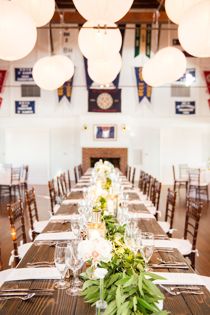 Yacht Club wedding decor