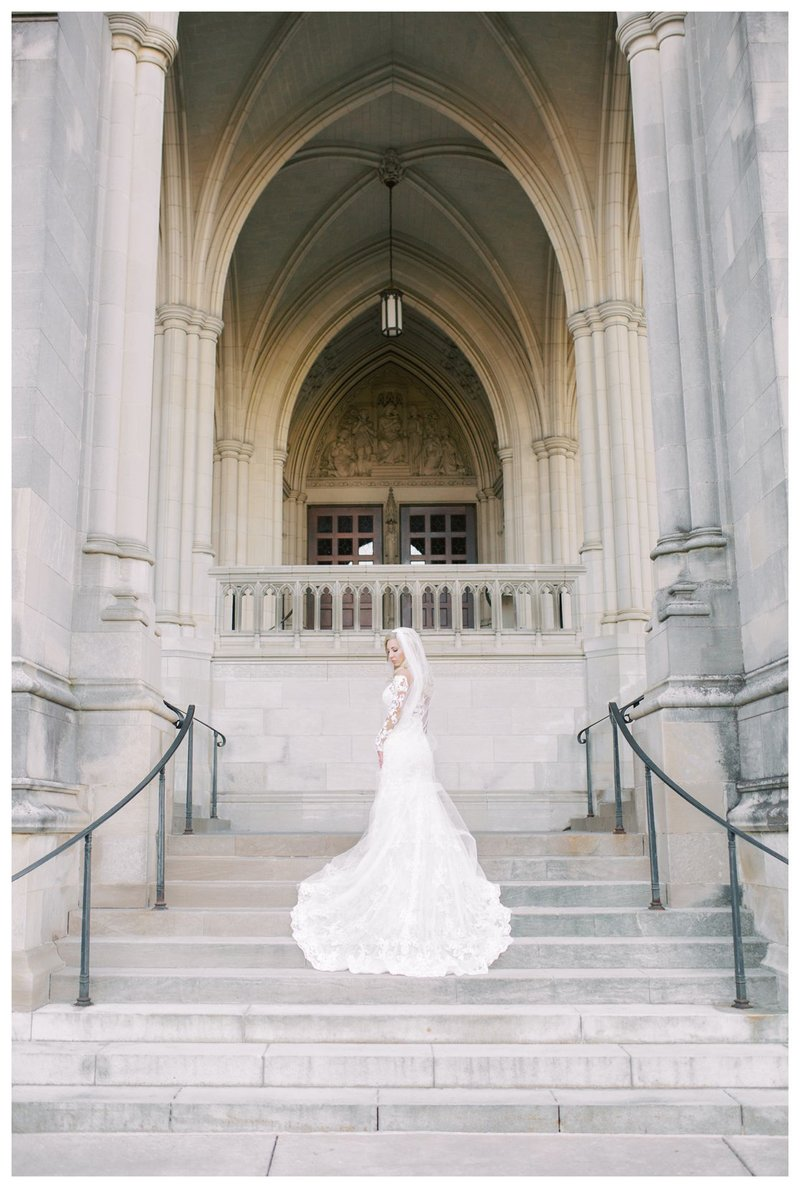 Bride and Groom portraits at the National Cathedral. DC Wedding Photographer, VA Wedding Photographer, Destination Wedding Photographer.